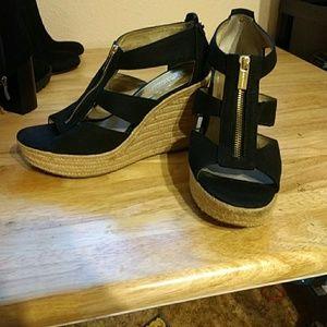 Michael Kors wedge heels with zipper
